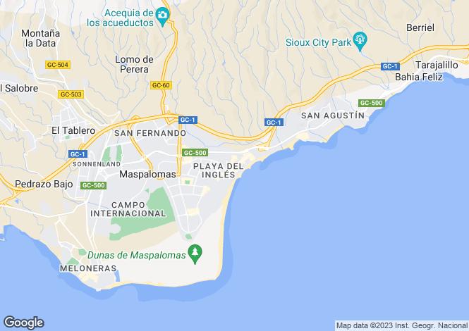Map for Playa del Ingles, Gran Canaria, Spain