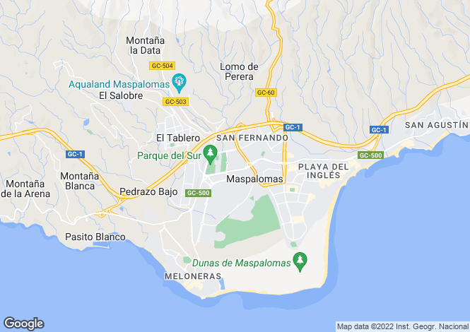 Map for Maspalomas, Gran Canaria, Spain