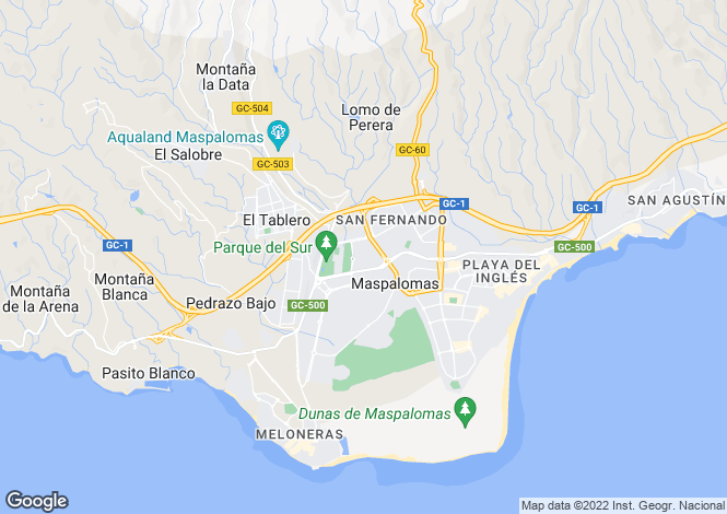 Map for Maspalomas, Gran Canaria, Canary Islands
