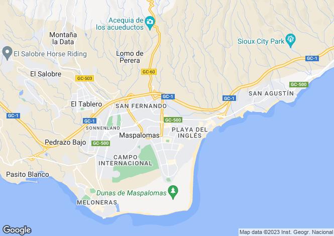 Map for Maspalomas, Gran Canaria, Canary Islands, Spain