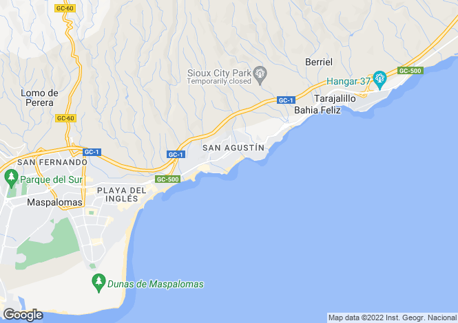Map for San Agustin, Maspalomas, Gran Canaria, Canary Islands, Spain