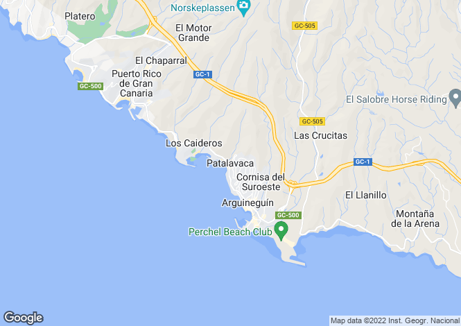 Map for Canary Islands, Gran Canaria, Patalavaca