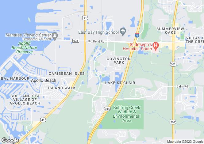 Map for USA - Florida, Hillsborough County, Apollo Beach
