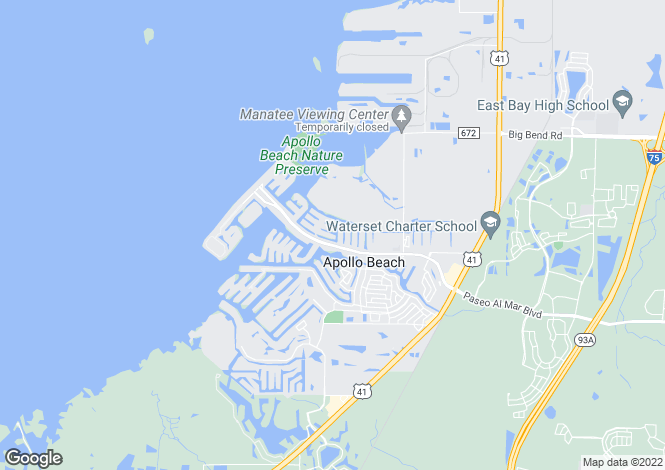 Map for USA - Florida, Hillsborough County, Apollo Beach