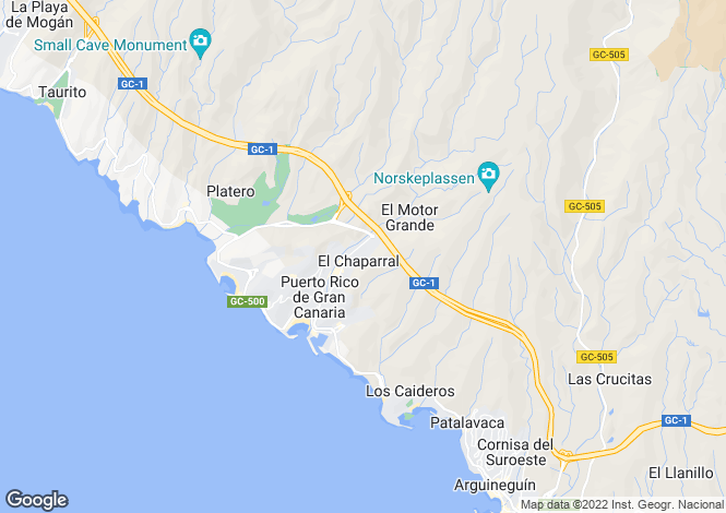 Map for Puerto Rico, Gran Canaria, Spain