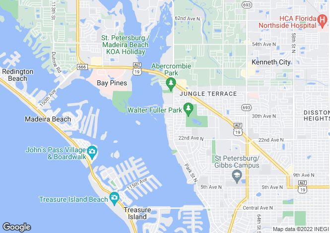 Map for USA - Florida, Pinellas County, St Petersburg