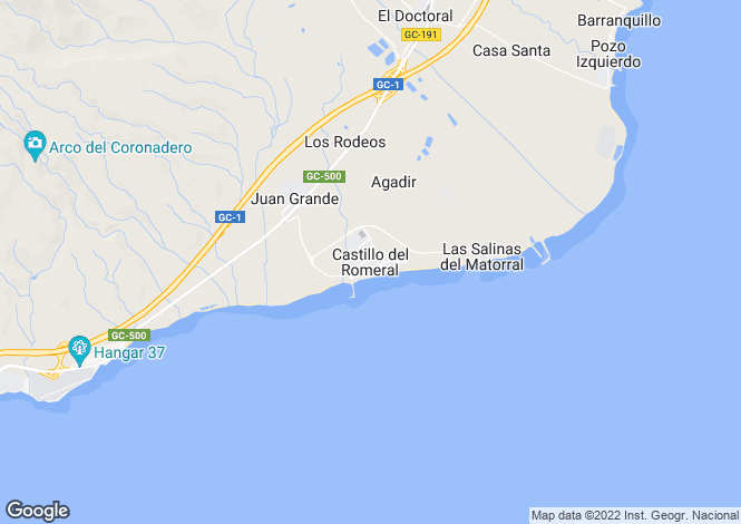 Map for Canary Islands, Gran Canaria, Castillo Del Romeral