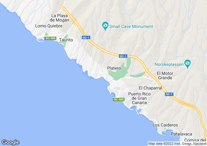 Map for Playa del Cura, Gran Canaria, Spain