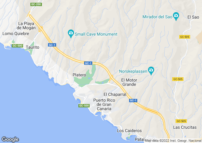 Map for Tauro, Gran Canaria, Canary Islands