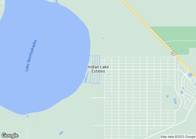 Map for Indian Lake Estates, Polk County, Florida