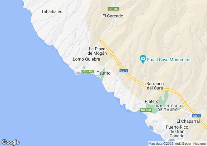 Map for Gran Canaria, Taurito , Spain