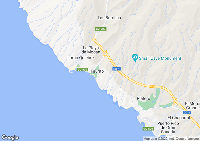 Map for Taurito, Gran Canaria, Spain