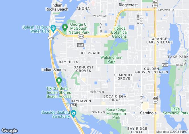 Map for USA - Florida, Pinellas County, Seminole