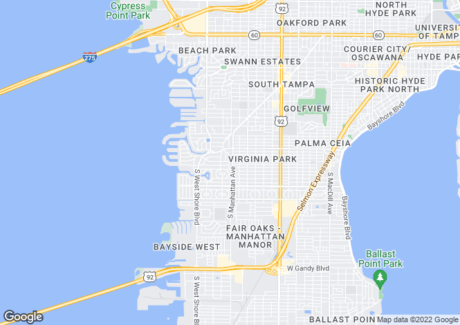 Map for USA - Florida, Hillsborough County, Tampa