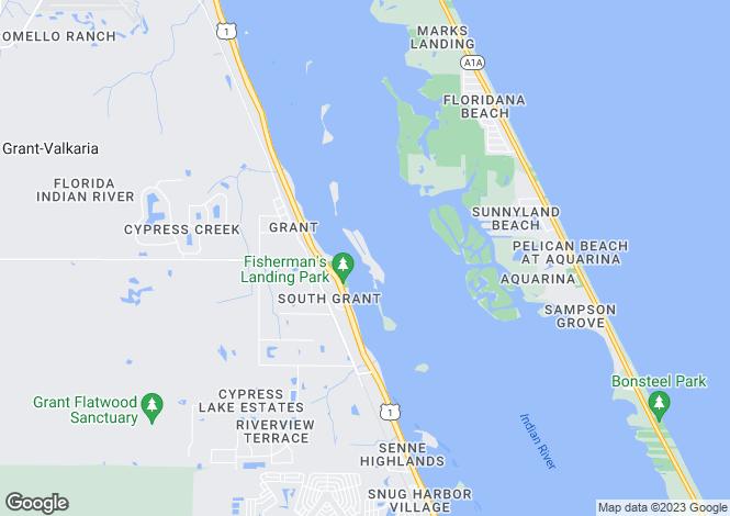 Map for USA - Florida, Brevard County, Grant