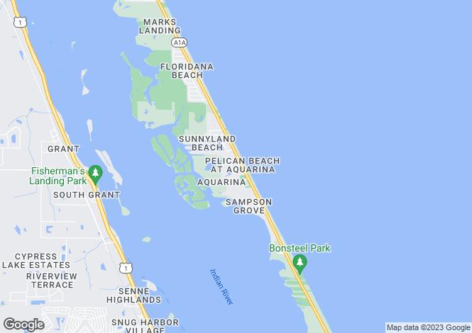 Map for USA - Florida, Melbourne Beach