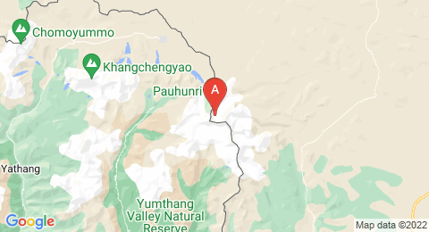 map of Paohanli Peak (China)