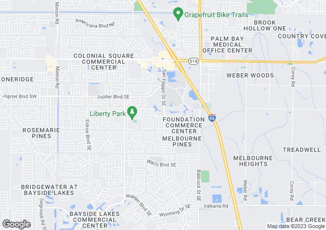 Map for USA - Florida, Brevard County, Palm Bay