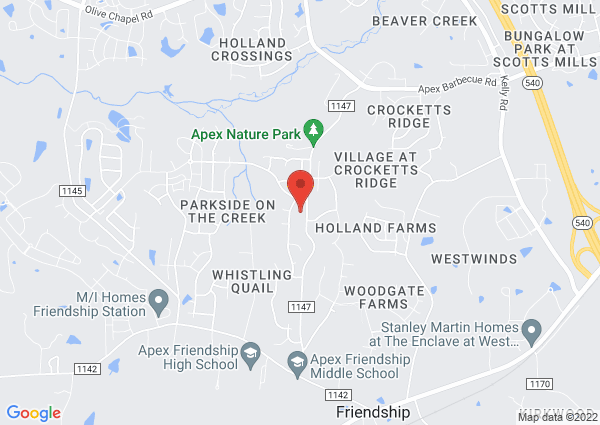 Map of 2700 Evans Rd, Apex, NC 27502, United States