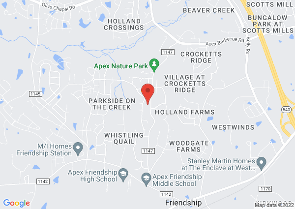 Map of 2700 Evans Road, Apex, NC, United States