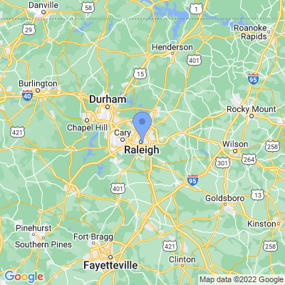 Map of truck driving jobs in Raleigh, North Carolina