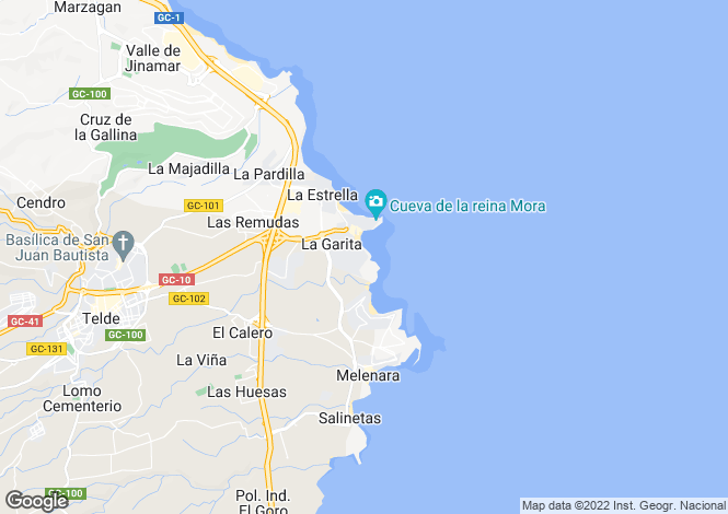 Map for Telde, Gran Canaria, Canary Islands
