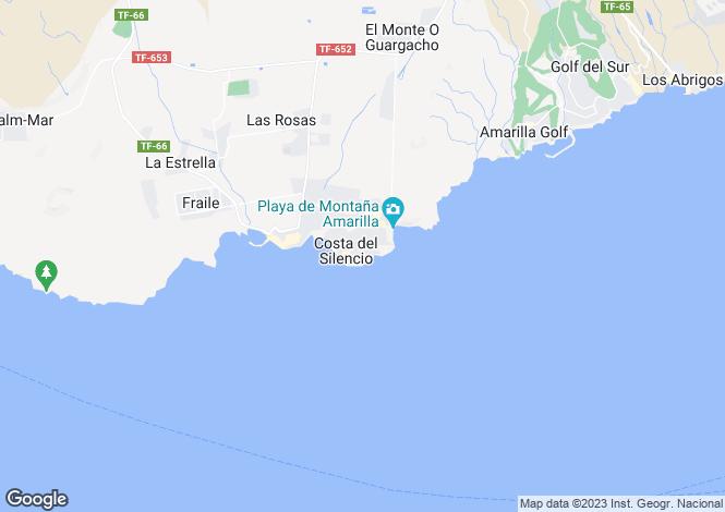 Map for Costa del Silencio, Tenerife, Canary Islands