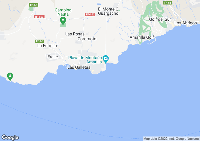 Map for Costa del Silencio, Tenerife, Canary Islands