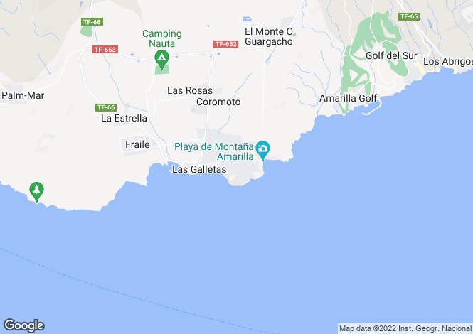 Map for Canary Islands, Tenerife, Costa del Silencio
