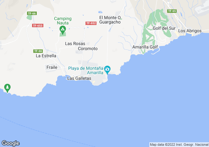 Map for Canary Islands, Tenerife, Costa del Silencio