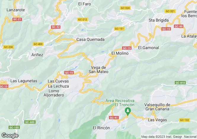 Map for Canary Islands, Gran Canaria, Vega De San Mateo