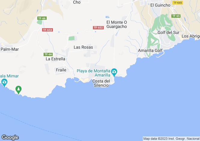 Map for Garañaña, Costa Del Silencio, Tenerife, Spain