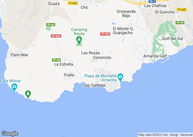 Map for Las Rosas, Tenerife, Spain