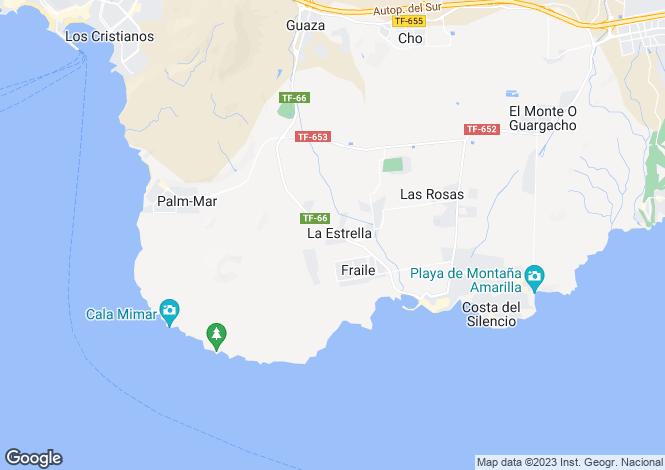 Map for Las Galletas, Tenerife, Canary Islands