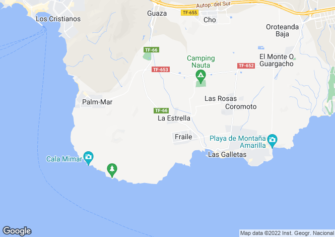 Map for Canary Islands, Tenerife, Las Galletas