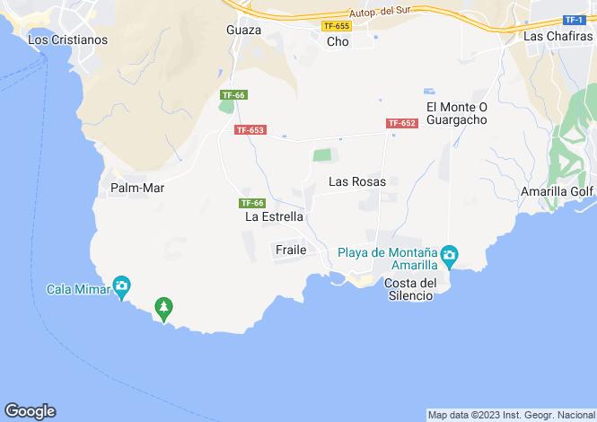 Map for Canary Islands, Tenerife, Las Galletas