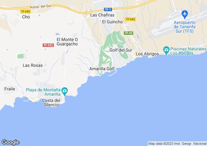 Map for Sun Bay Villas, Amarilla Golf, Tenerife, Spain