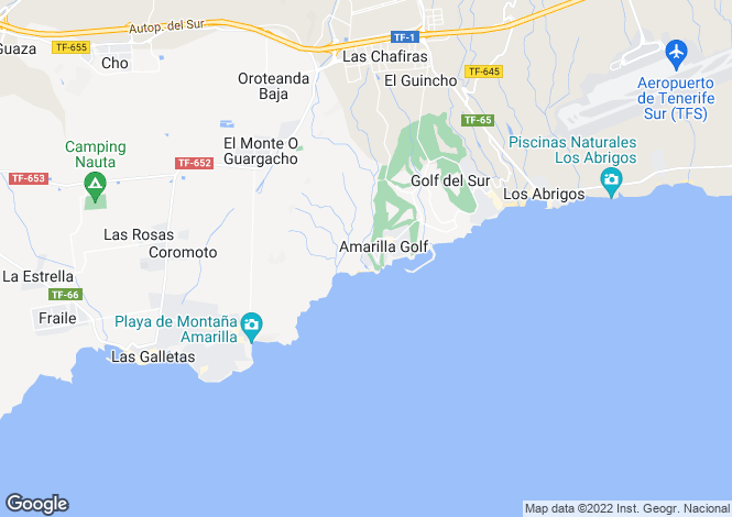 Map for Amarilla Golf, Tenerife, Canary Islands