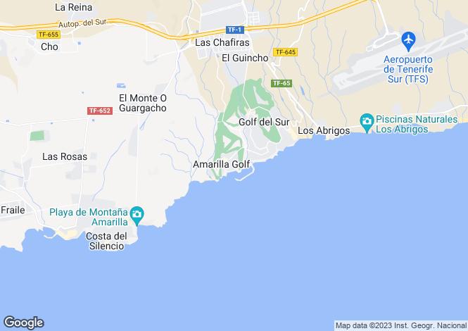 Map for Royal Marina Golf, Amarilla Golf, Tenerife, Spain