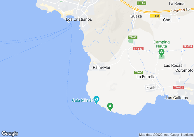 Map for Canary Islands, Tenerife, Palm Mar