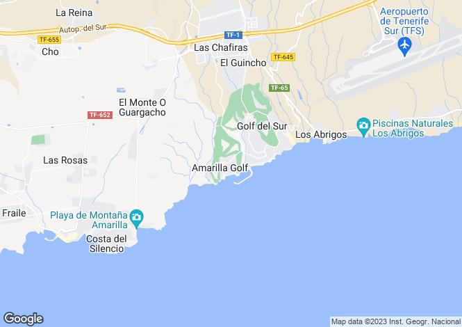 Map for Amarilla Golf, Tenerife, Canary Islands