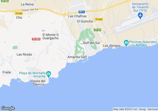 Map for Canary Islands, Tenerife, Amarilla Golf