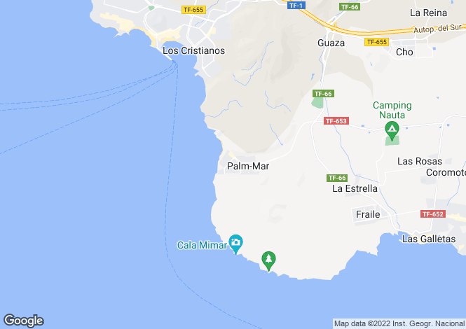 Map for Laderas del Palmar, Palm Mar, Tenerife, Spain