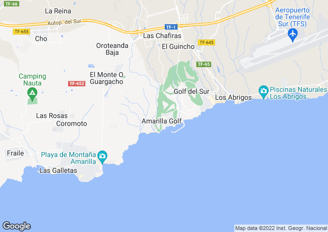 Map for Canary Islands, Tenerife, Amarilla Golf