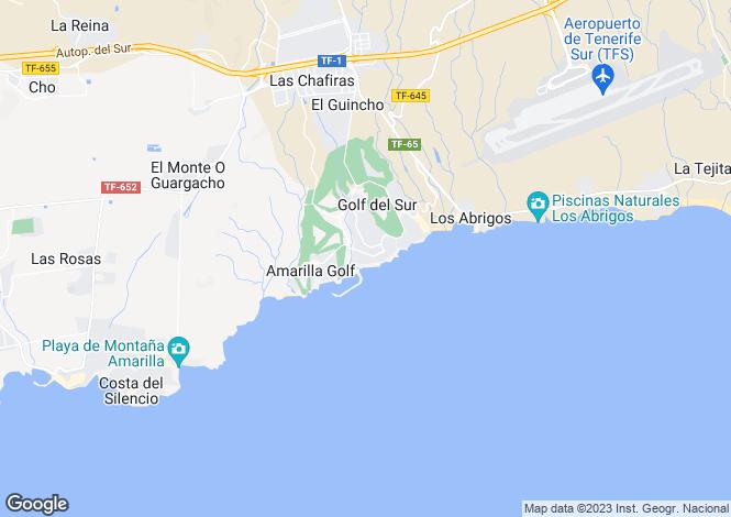 Map for Aguamarina, Golf Del Sur, Tenerife, Spain