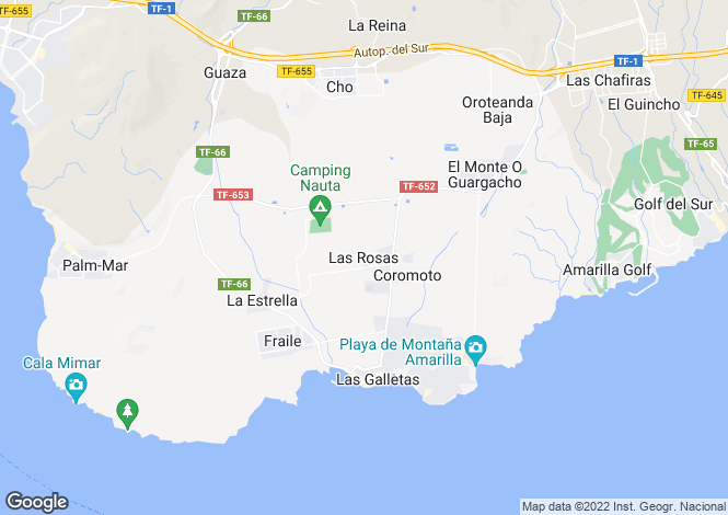 Map for Las Rosas, Tenerife, Canary Islands