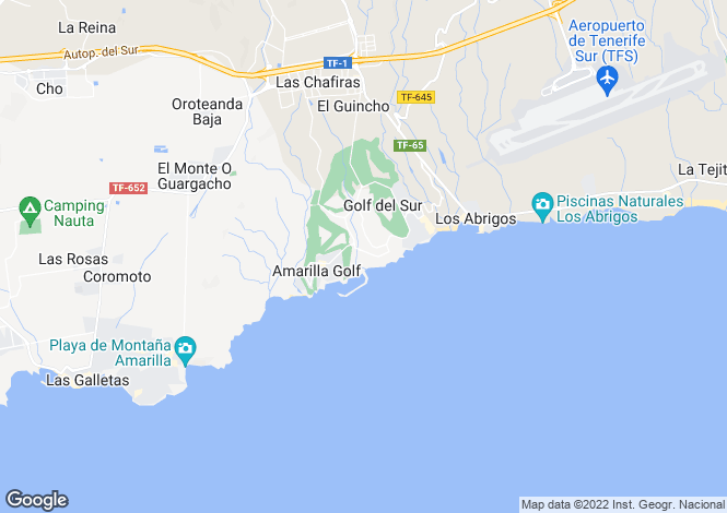 Map for Aguamarina, Golf Del Sur, Tenerife, Spain