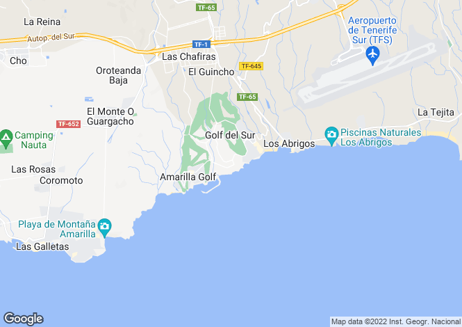 Map for Pueblo Primavera, Golf Del Sur, Tenerife, Spain