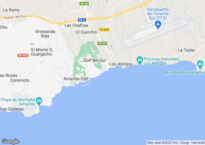 Map for El Náutico, Golf Del Sur, Tenerife, Spain