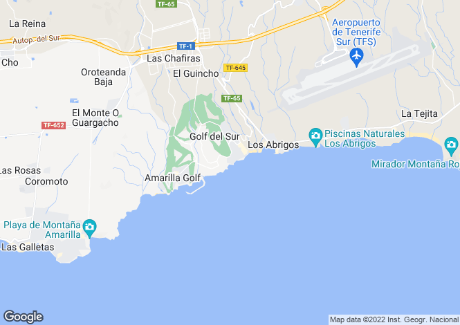 Map for Golf del Sur, Tenerife, Spain